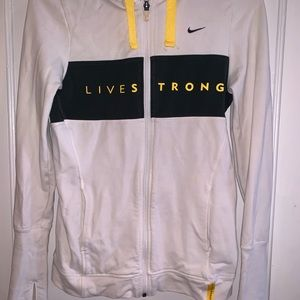Nike Fit-dri live strong zip up, size S